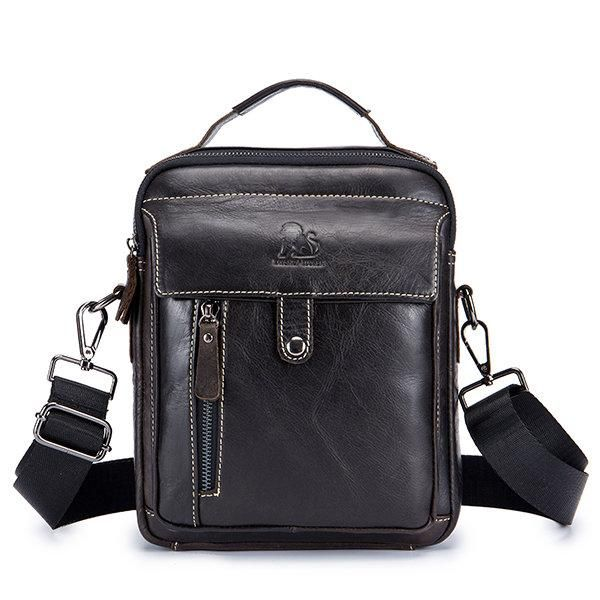 ccce63cc Retro Genuine Leather Men Business Handbag Crossbody Bag ...