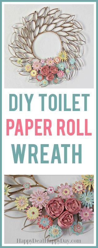 DIY Toilet Paper Roll Wreath #diywreaths #diywreathideas #toiletpaperrollcraft #toiletpaperrollupcycle #upcycled #upcycledart #cardboardart #toiletpaperroll #toiletpaperrollcraft #toiletpaperrollwreath