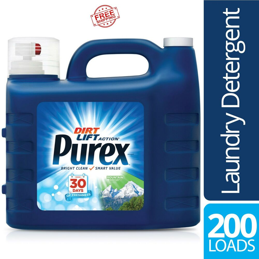 All Purpose Liquid Laundry Detergent Purex Mountain Breeze 300 Oz 200 Loads Purex Purex Liquid Laundry Detergent Laundry Liquid