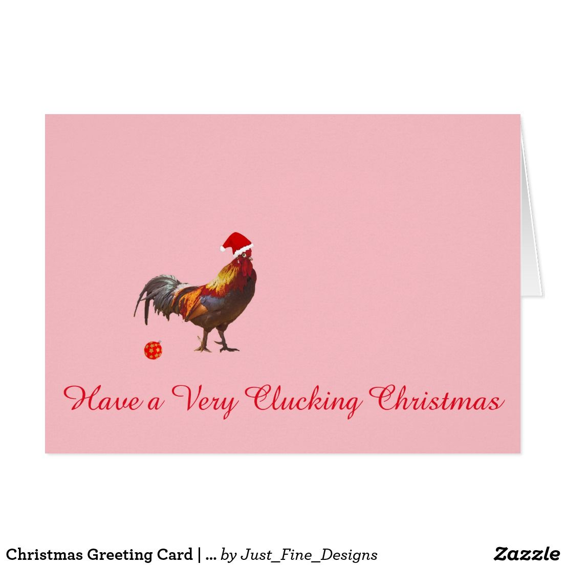 Chicken Christmas Greeting Card Christmas Greeting Cards