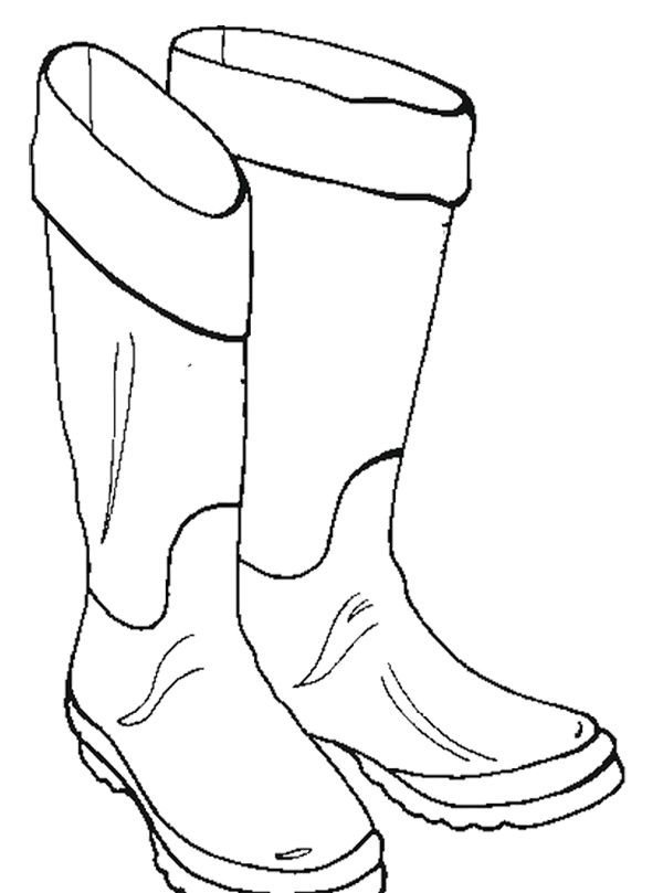 Pictures Winter Boots Coloring Page Winter Pictures Winter