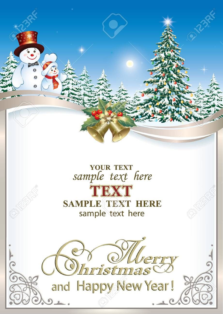 Free Christmas Greeting Card Templates Merry Christmas And Happy New Ye Christmas Greeting Card Template Free Christmas Greeting Cards Christmas Greeting Cards