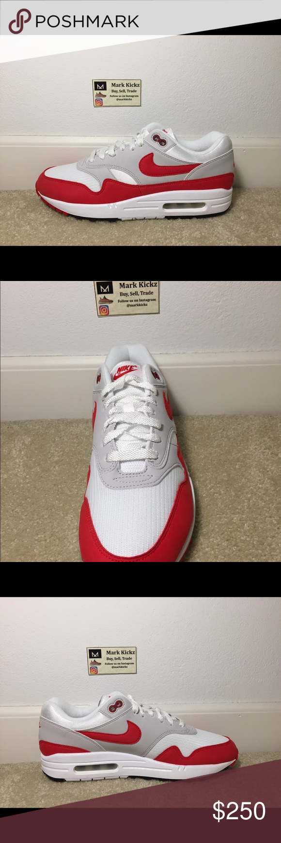 eea4541e107f Nike Air Max 1 OG Anniversary 2017 size 9 Nike Air Max 1 OG Anniversary 2017  Size 9 Brand New (DS) Follow me on Instagram -  markkickz Trades accepted  DM ME ...