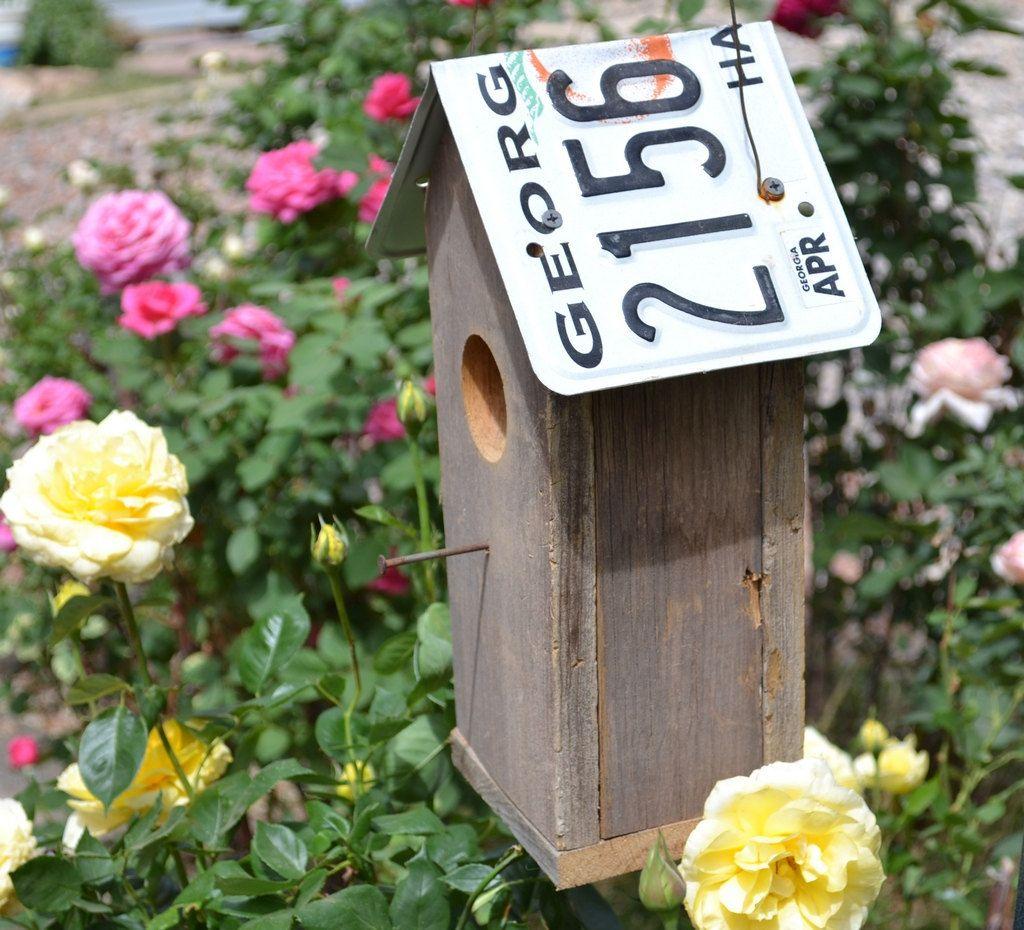Georgia License Plate Barnwood Bird House By Barnwood4u On Etsy 3500