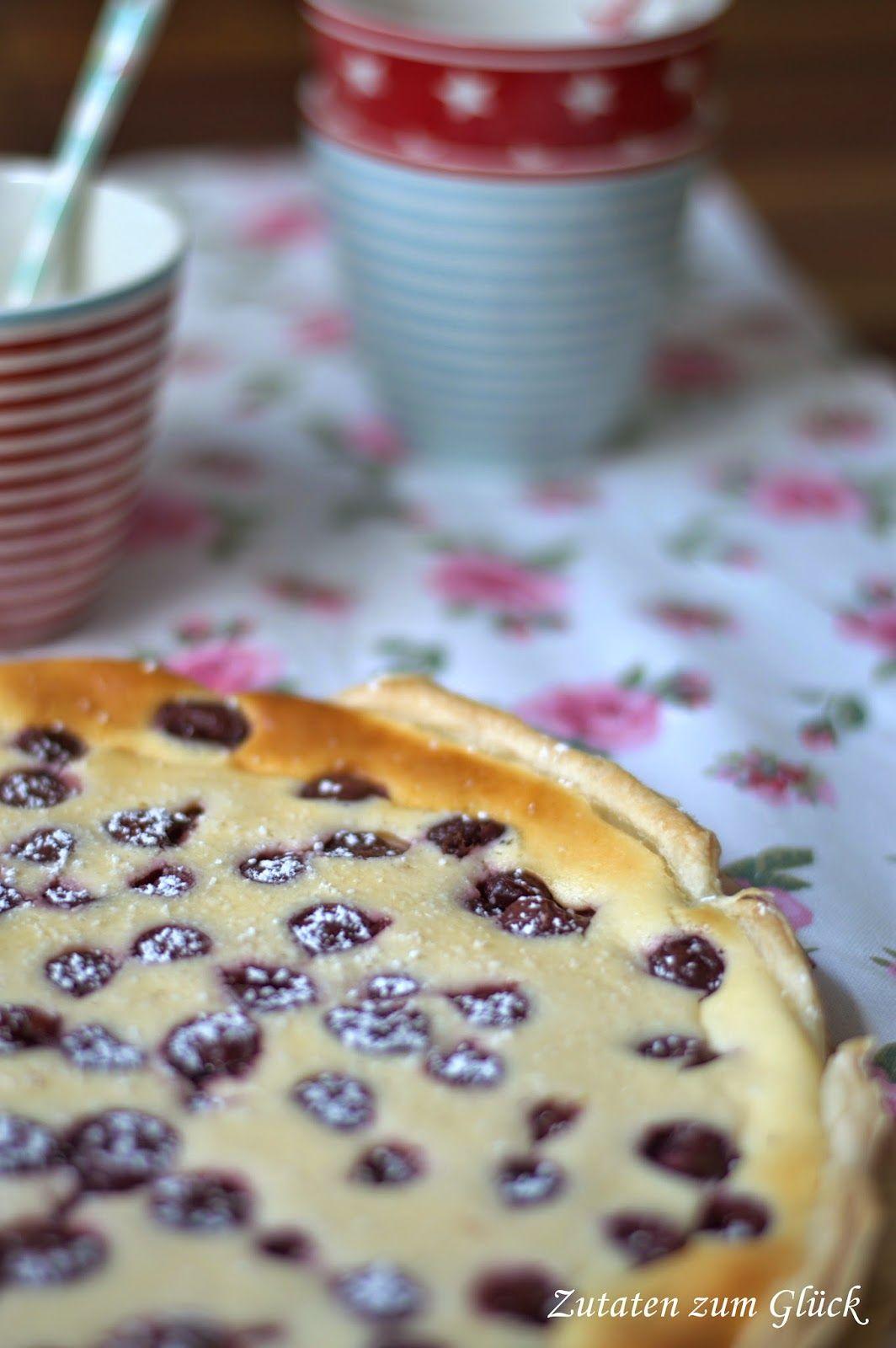 Zutaten zum Glück: Blätterteigtarte mit Kirsch-Vanillecreme - ich backs mir im ........