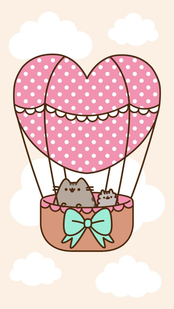 FREEBIE Pusheen Phone Wallpaper for Android & iPhone