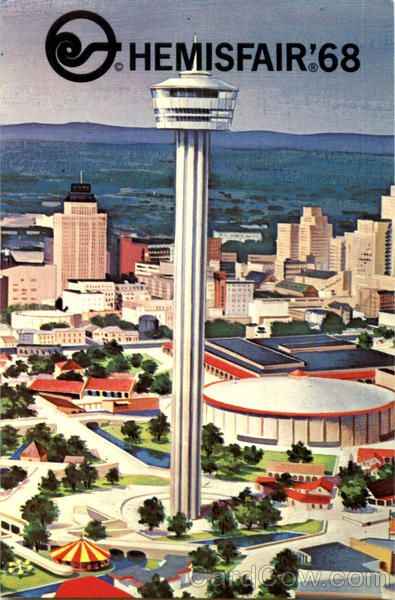 vtge souvenir ashtray-World Fair 1968-San Antonio-Hemisfair 68-copper ashtray-collector item-memorabilia-