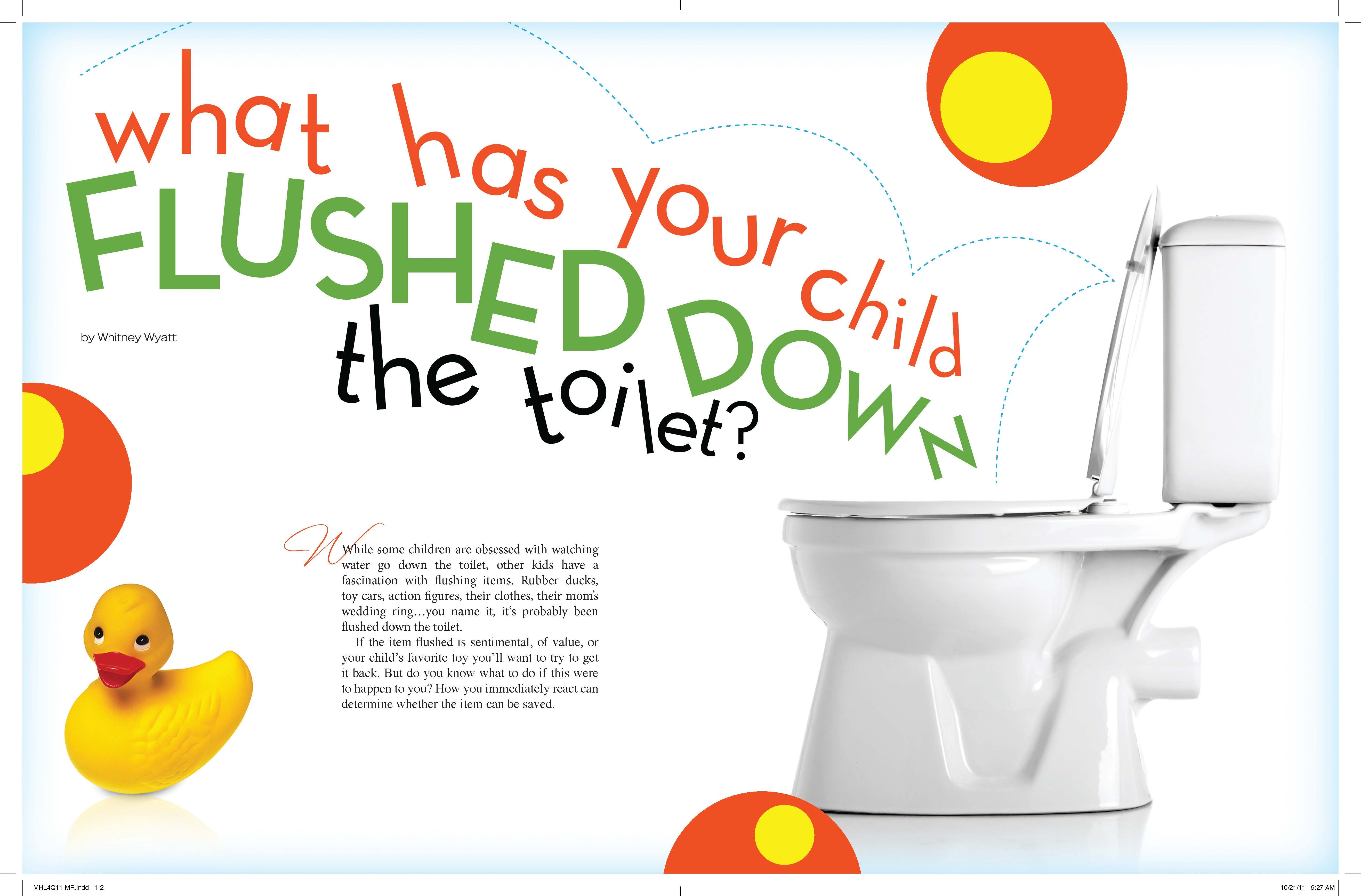 Kids Flushing Toys Down The Drain Check Out Myhomelifemag Or Mr Rooter To Find