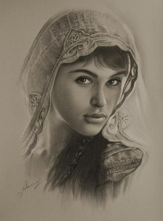 Gemma arterton as tamina  - Pencil Sketches by Krzysztof Lukasiewicz  <3 <3