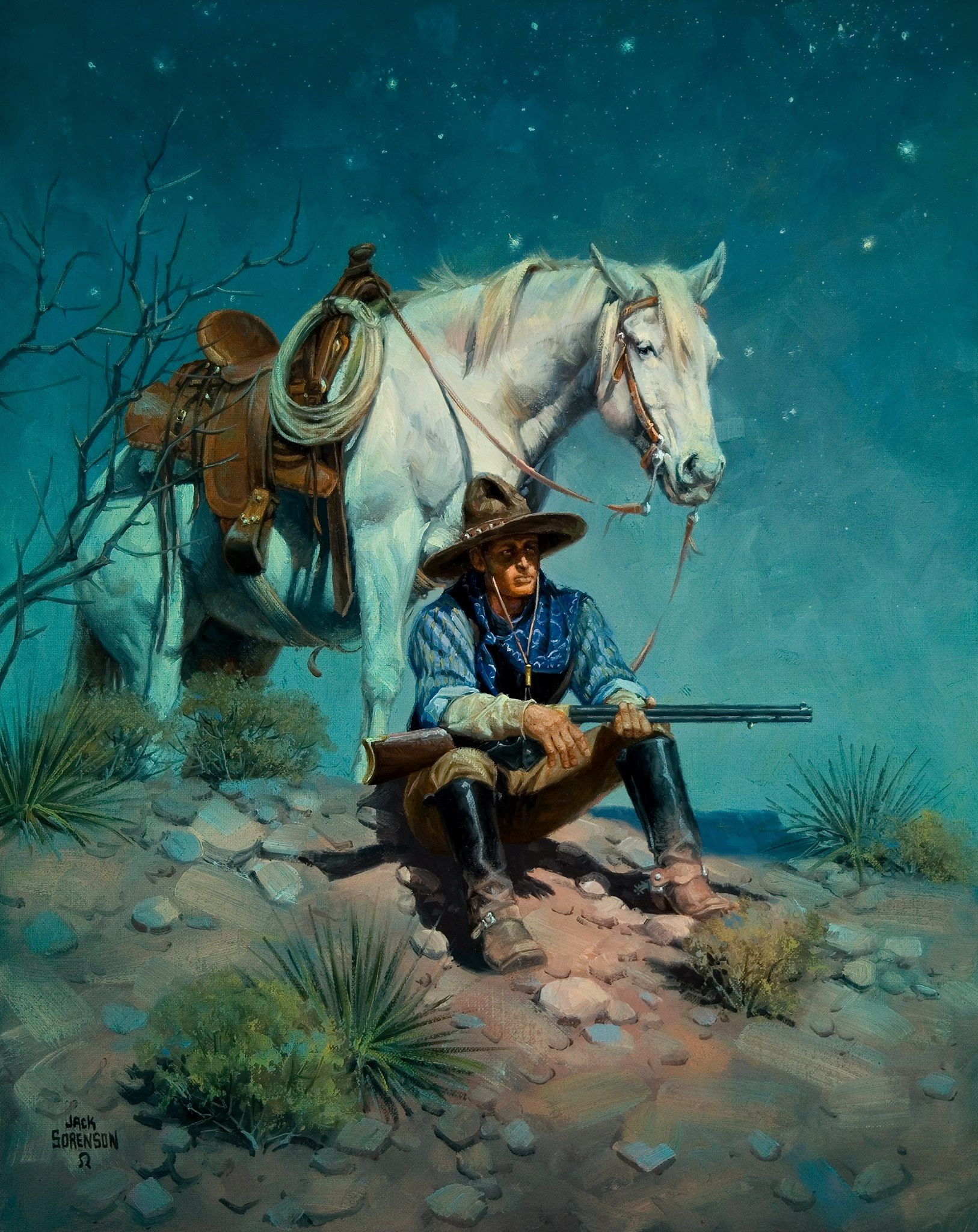Night Watchman Cool Stuff In 2019 Cowboy Art