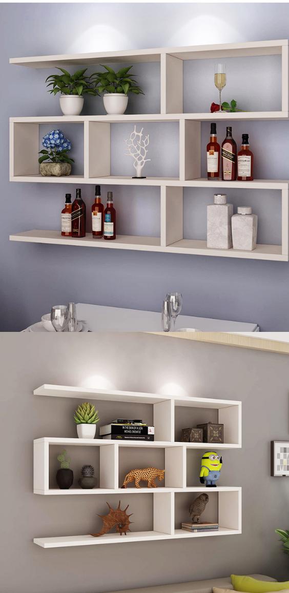 Wall Hanging Wall Bookshelf Storage Solution For Bedroom Wall Shelves Living Room Bookshelves In Living Room Living Room Decor Apartment #wall #mounted #shelves #for #living #room