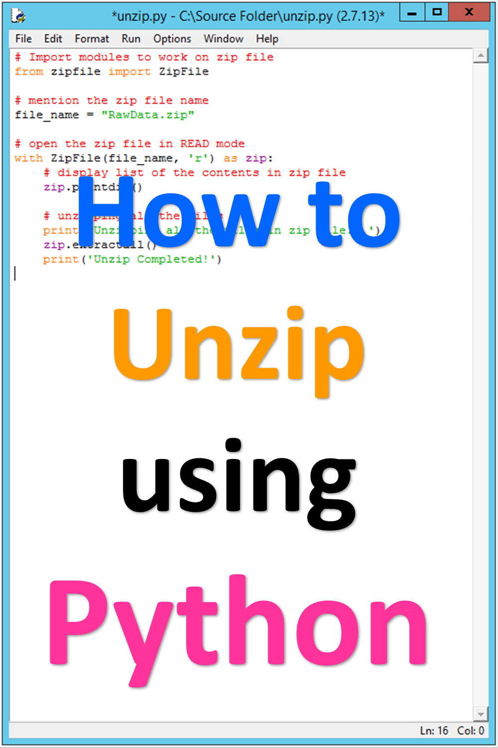 SimpleMSOffice #Python #Unzip Condition: Python should be