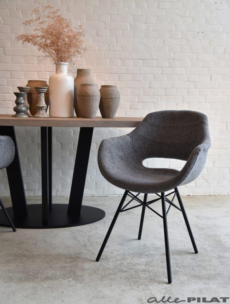 Eetkamerstoel inez interiors scandinavian chairs and for Kuipstoel stof