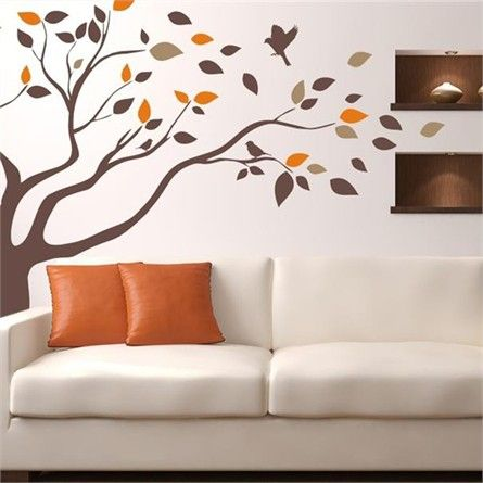 add a fun nature scene to your child's room with the windblown wall
