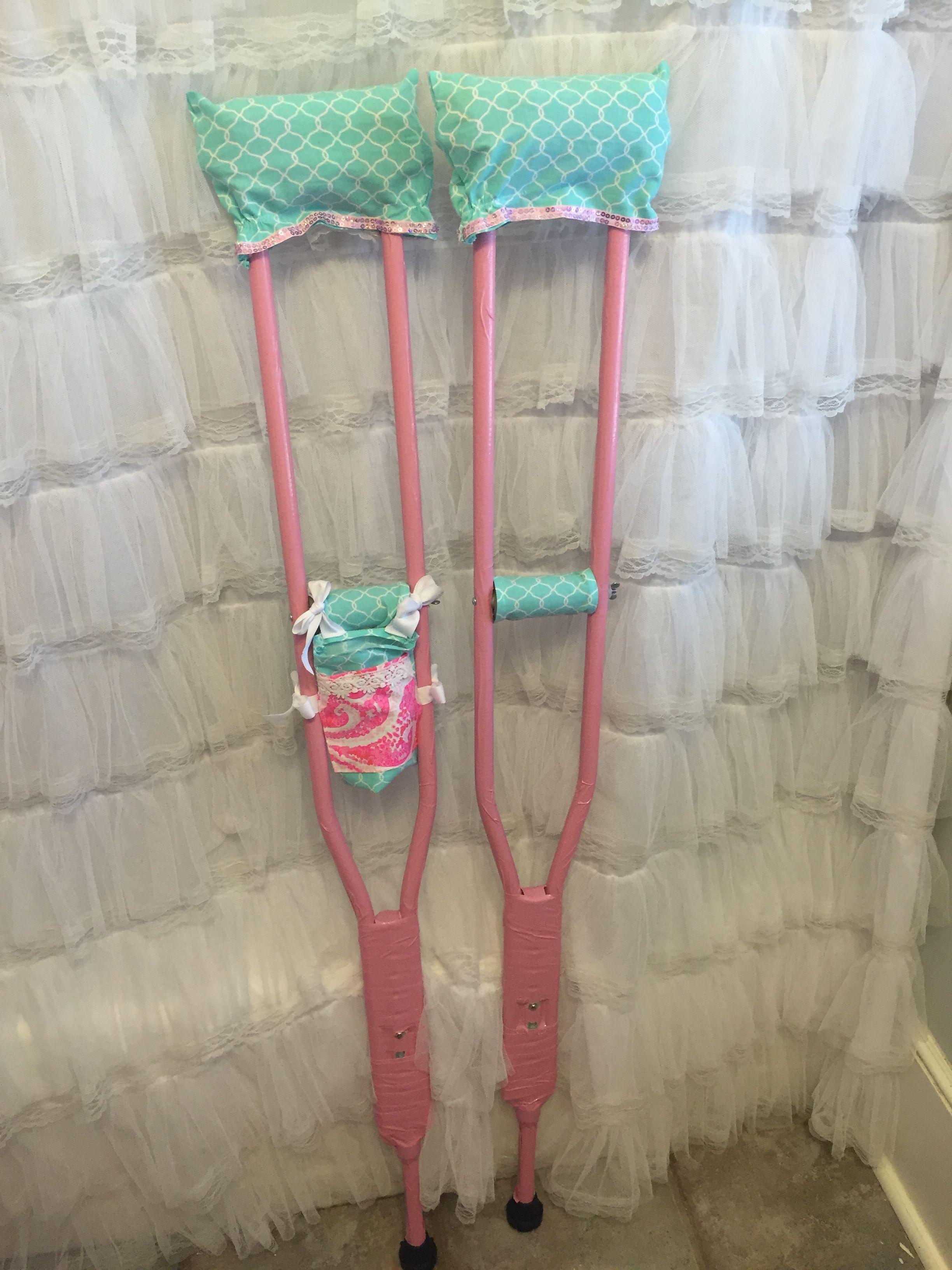 Sew Padded Crutch Covers Diy Cute Crutches Decorated Crutches Crutch Covers Crutch Pad