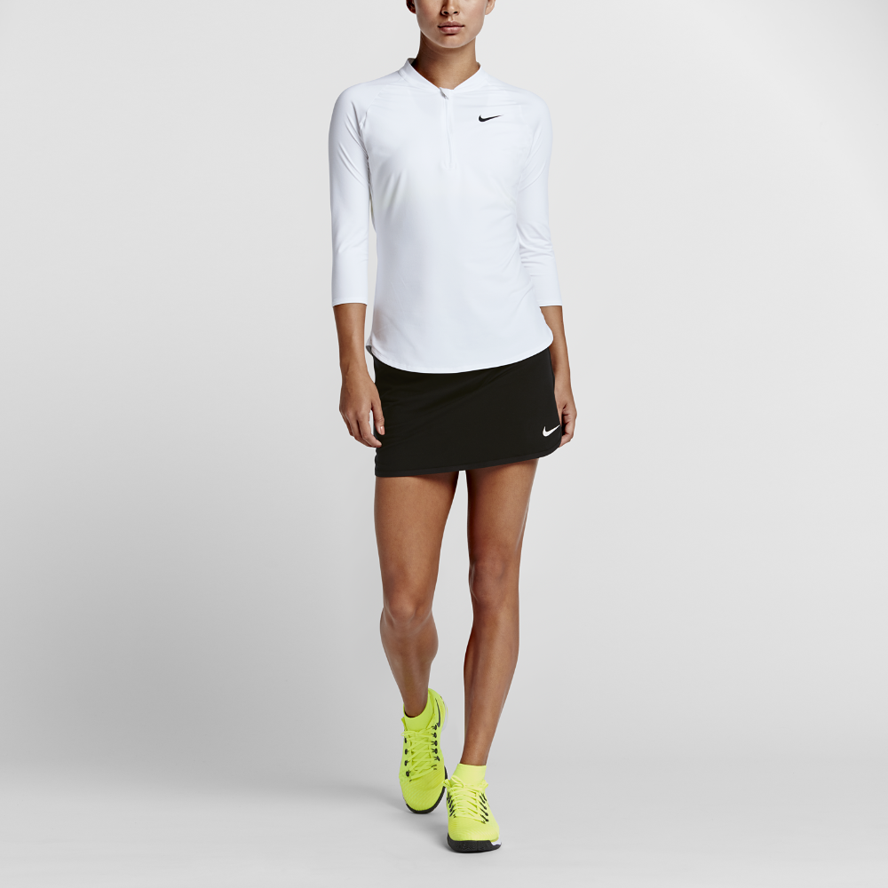 6ceb6751 Nike NikeCourt Dry Pure Women's 3/4 Sleeve Half-Zip Tennis Top Size ...