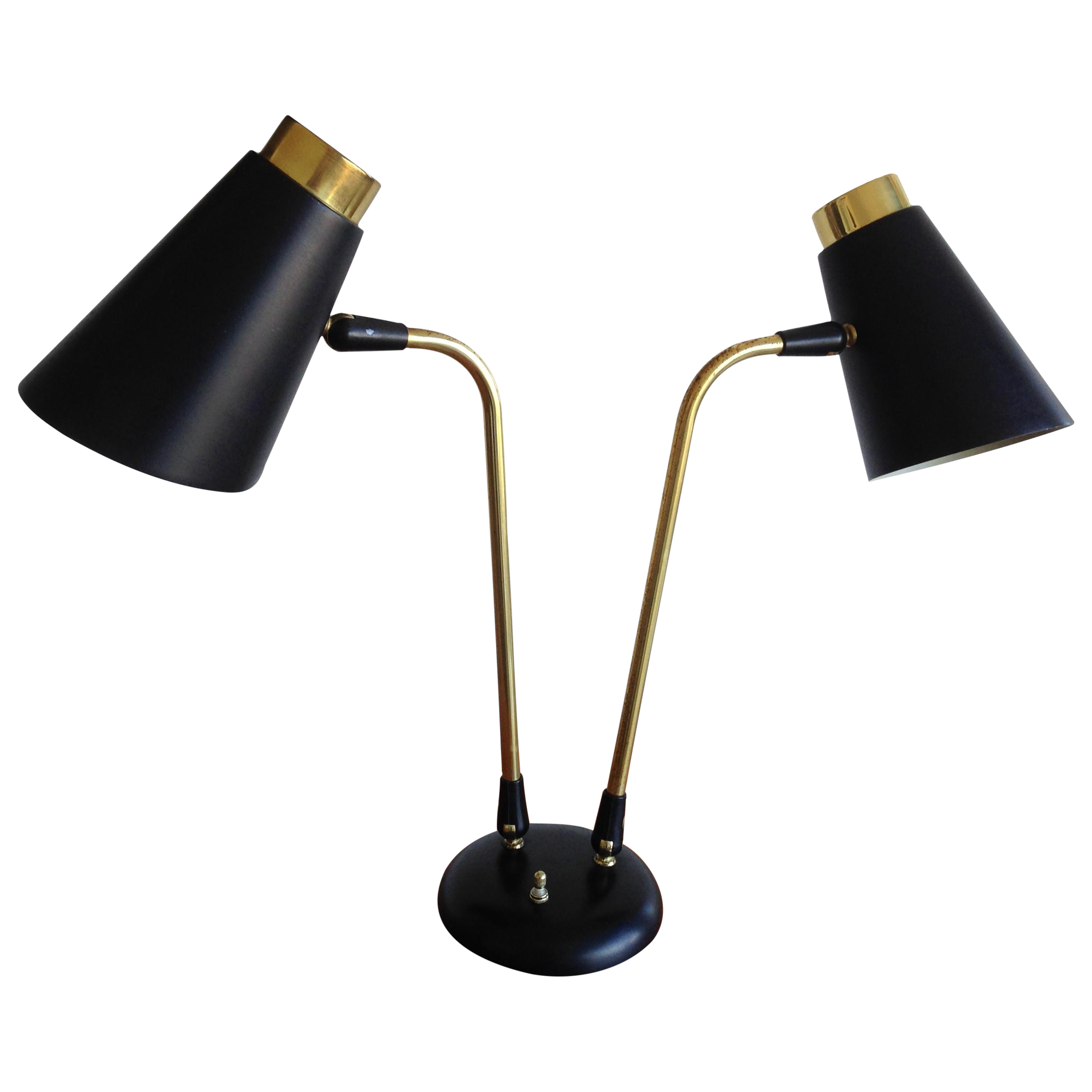For Sale Black Mid Century Desk Lamp By Ewa Varnamo 1950s In 2020 Desk Lamp Mid Century Desk Lamp