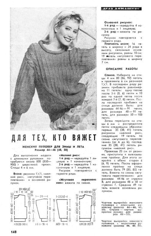 вязание из старых журналов наука и жизнь фото 21 1 вязание