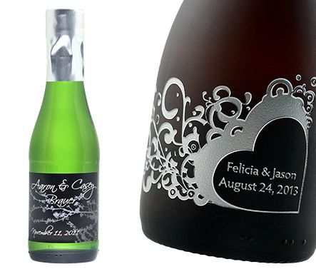 Mini Bottles Of Wine For Wedding Favors Personalized Champagne