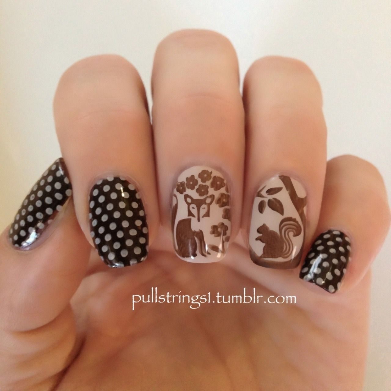 Nail art dots woodland animals stamp plate moyou mother nature