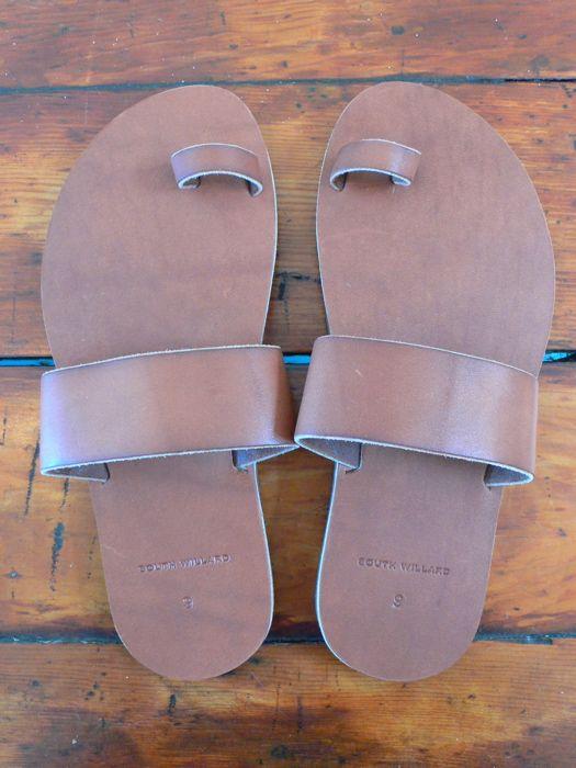 berman sandal     berman sandal, brown horween leather, brass rivets, vibram sole, made in california    $138.00