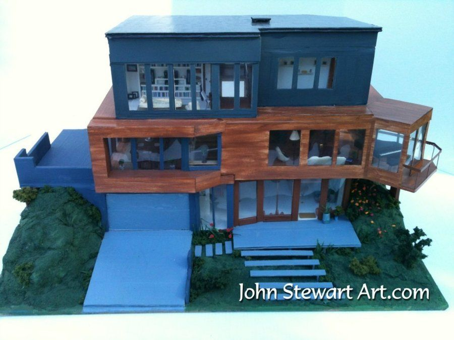 House From Twilight twilight cullen's house scale miniaturejohnstewartart on