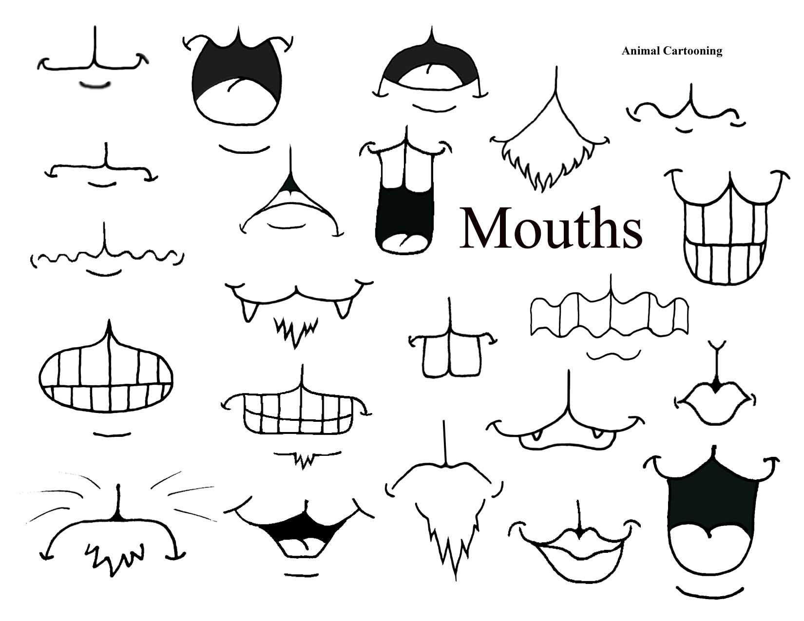 Animal Cartoons Mix And Match Mouths How To Draw Kidscartoon Facesfunny