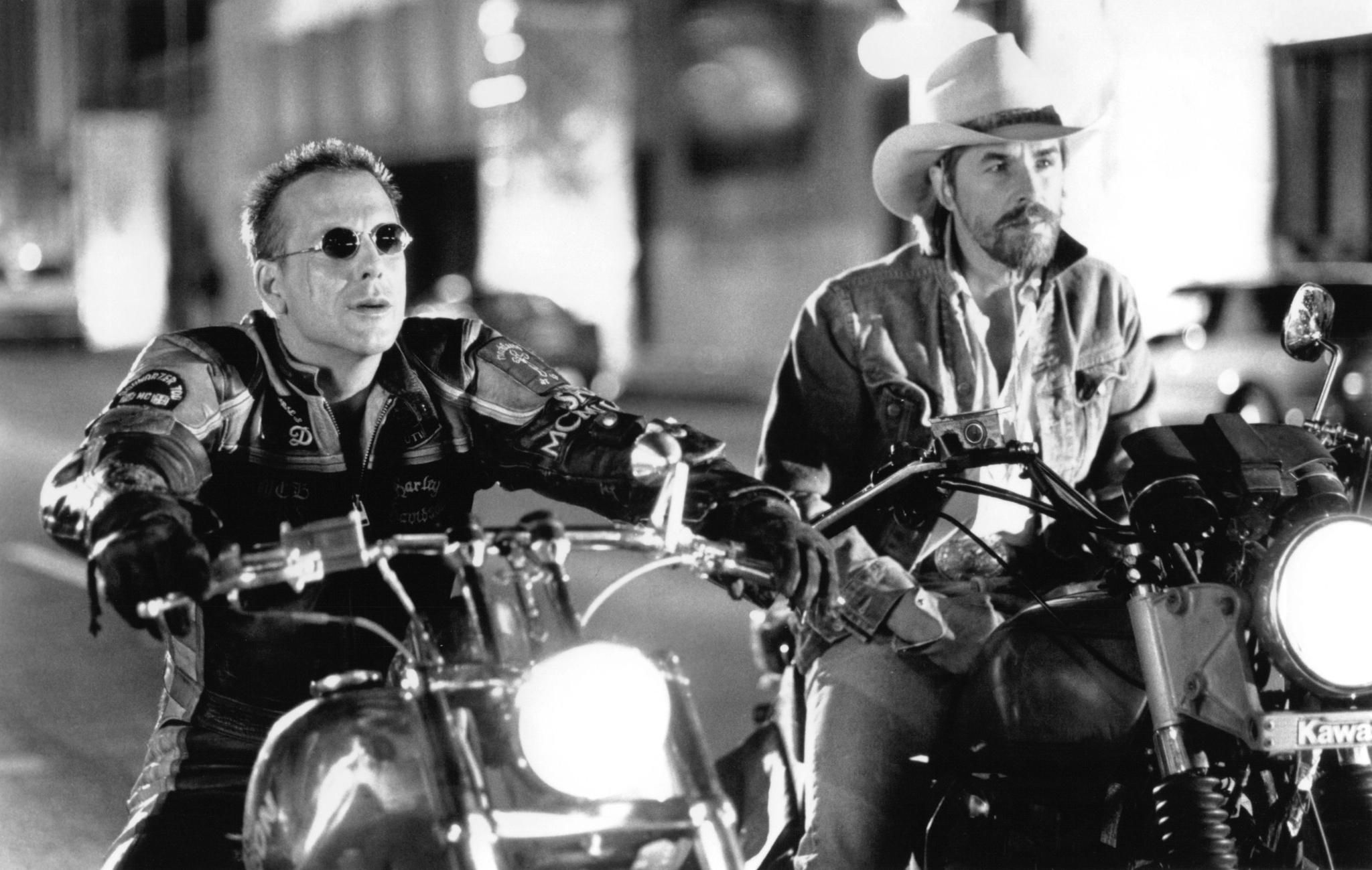 Harley Davidson Movie: And Mickey Rourke In Harley Davidson And The Marlboro Man