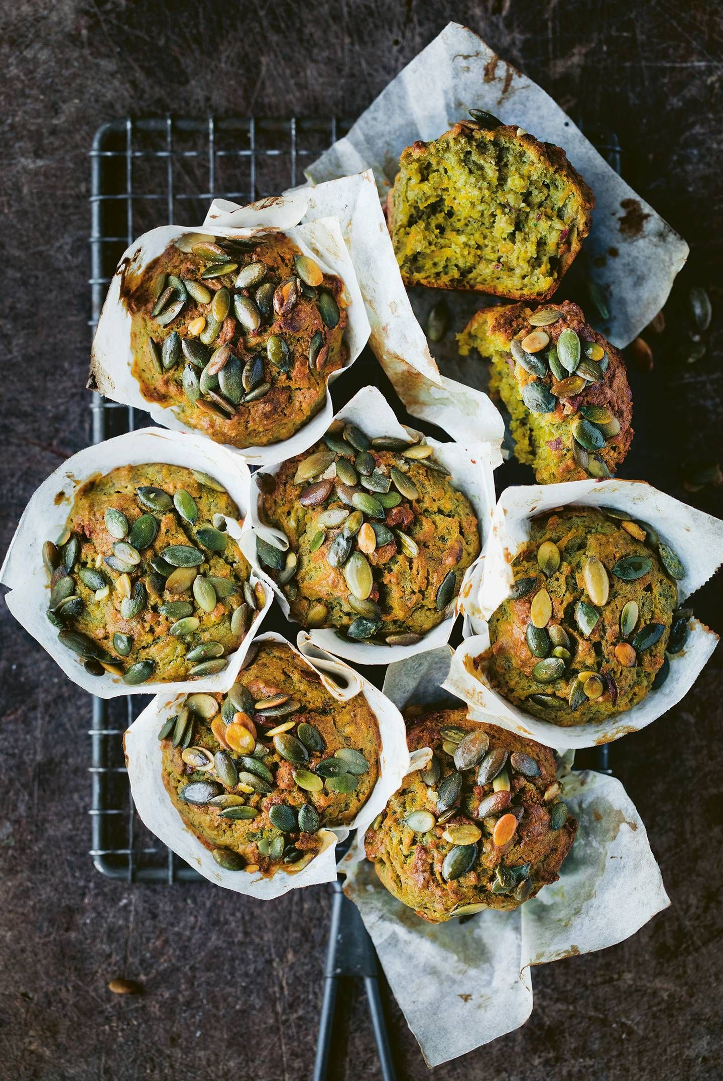 Sweet potato and spinach muffins