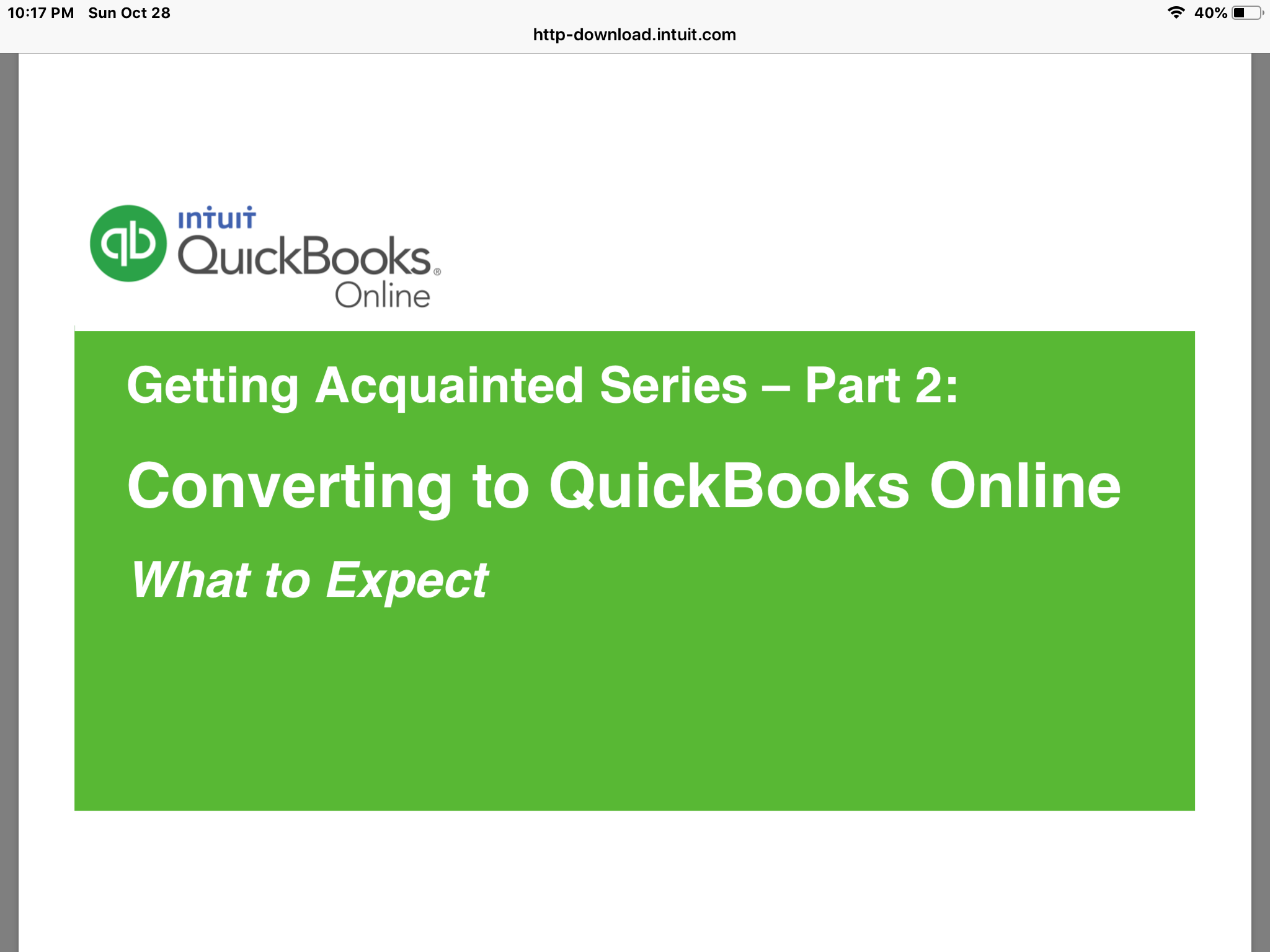 Converting to Quickbooks online | Accounting Services