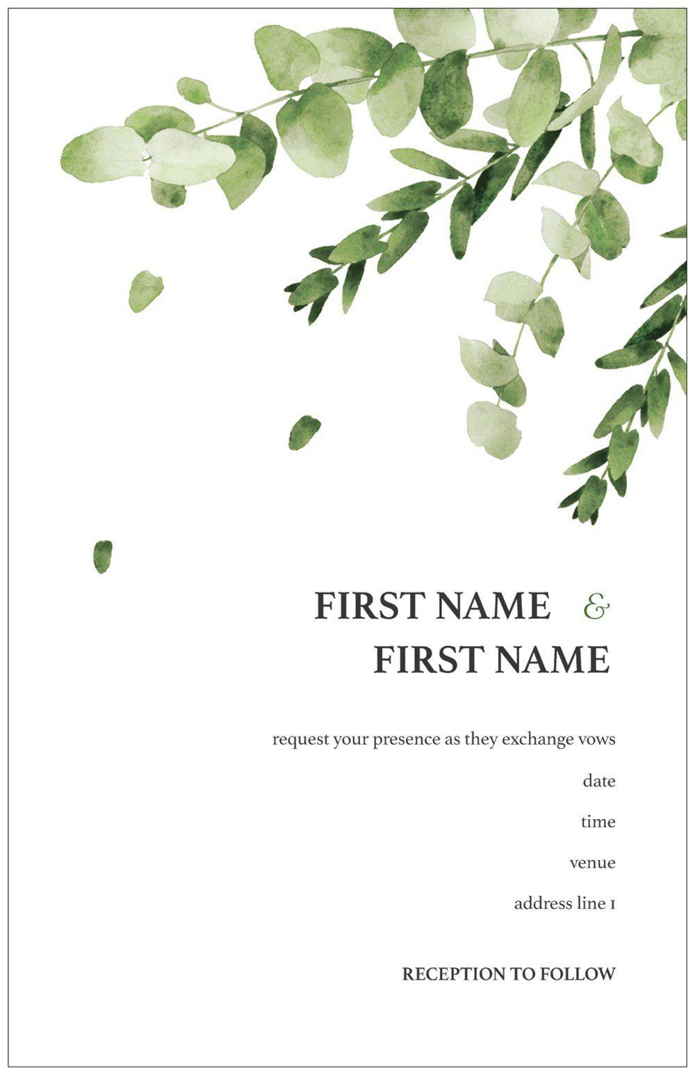 Vistaprint Wedding Programs.Wedding Programs In 2019 K K Wedding Invitations Personalised