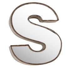 Make Market D Metal With Mirror Front Letter   Decor