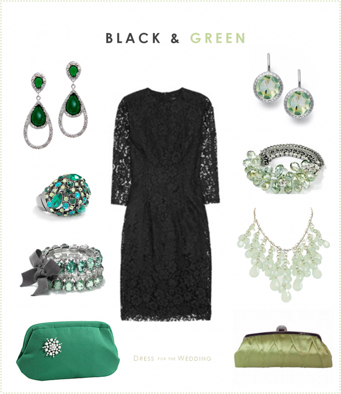 Accessories for black lace dresses