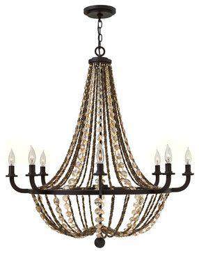 Fredrick Ramond Hamlet 8-Light Chandelier - traditional - chandeliers - Carolina Rustica