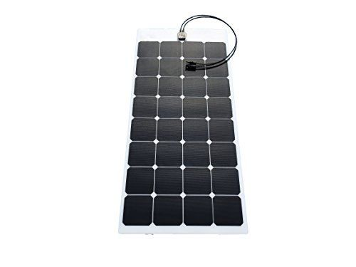 Chanve 100w 18v Sunpower Etfe Fabric Laminated Semi Flexible Solar Panel Bendable Solar Charge Flexible Solar Panels Off Grid Solar Power Solar Panels For Home