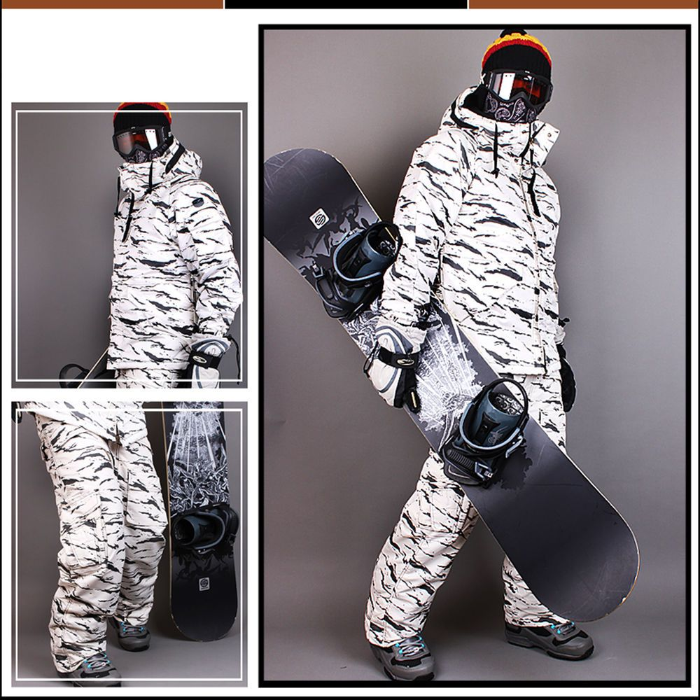 aa8cc4f051 Southplay Mens Winter Premium White Camo Military Ski-Snowboard Jacket Or  Pants  Southplay