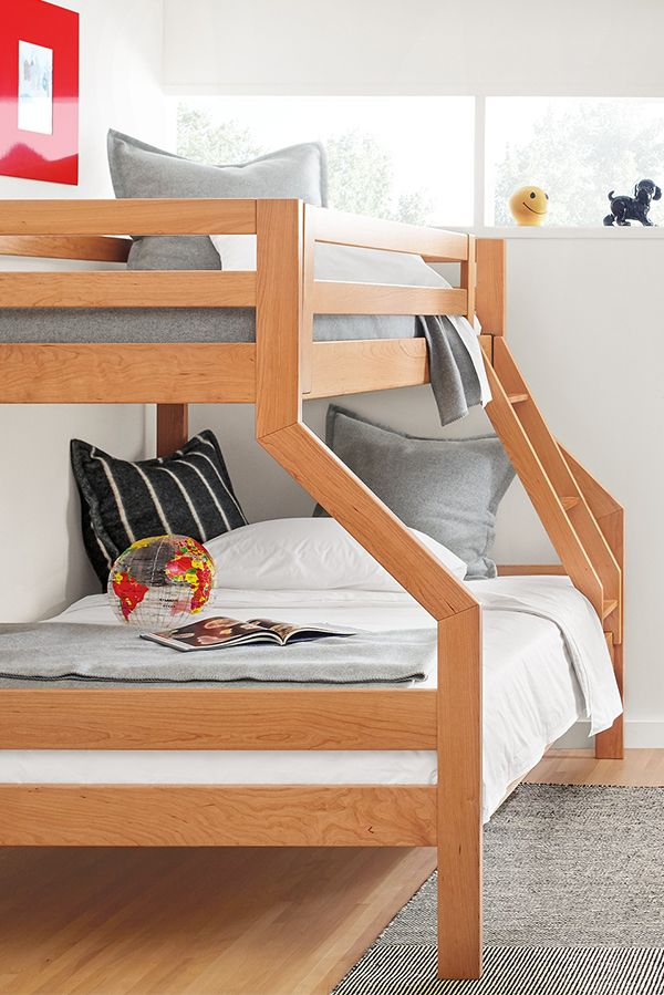 Create A Modern Kids Room With Our Waverly Kids Duo Wood Bunk Bed Modern Kids Room Wood Bunk Beds Bunk Beds