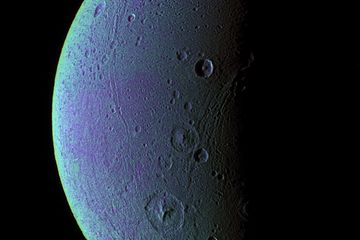 Saturn's Icy Moon Dione Has Oxygen Atmosphere    A NASA spacecraft circling Saturn has discovered a wispy oxygen atmosphere on the ringed planet's icy moon Dione, but you wouldn't want to live there. For one thing, you wouldn't be able to breathe — Dione's atmosphere is 5 trillion times less dense than the air at Earth's surface, scientists say.