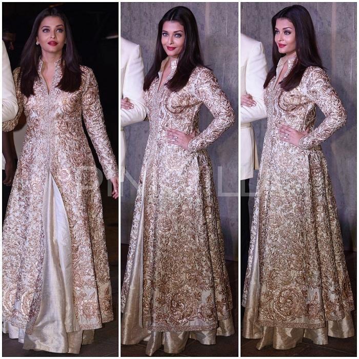 Yay Or Nay Aishwarya Rai Bachchan In Manish Malhotra Indian Gowns Dresses Designer Dresses Indian Indian Designer Outfits