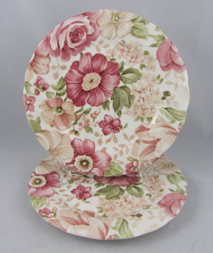 Good Nikko 2 PC Salad Plates Set Tableware Summer Glade Pattern White Floral  Design | EBay