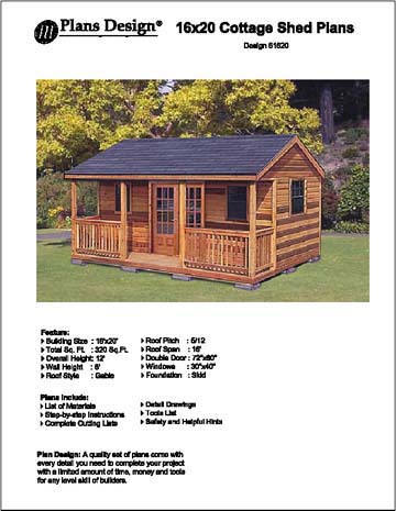 16 x 20 cabin shed guest house building plans on extraordinary unique small storage shed ideas for your garden little plans for building id=19310