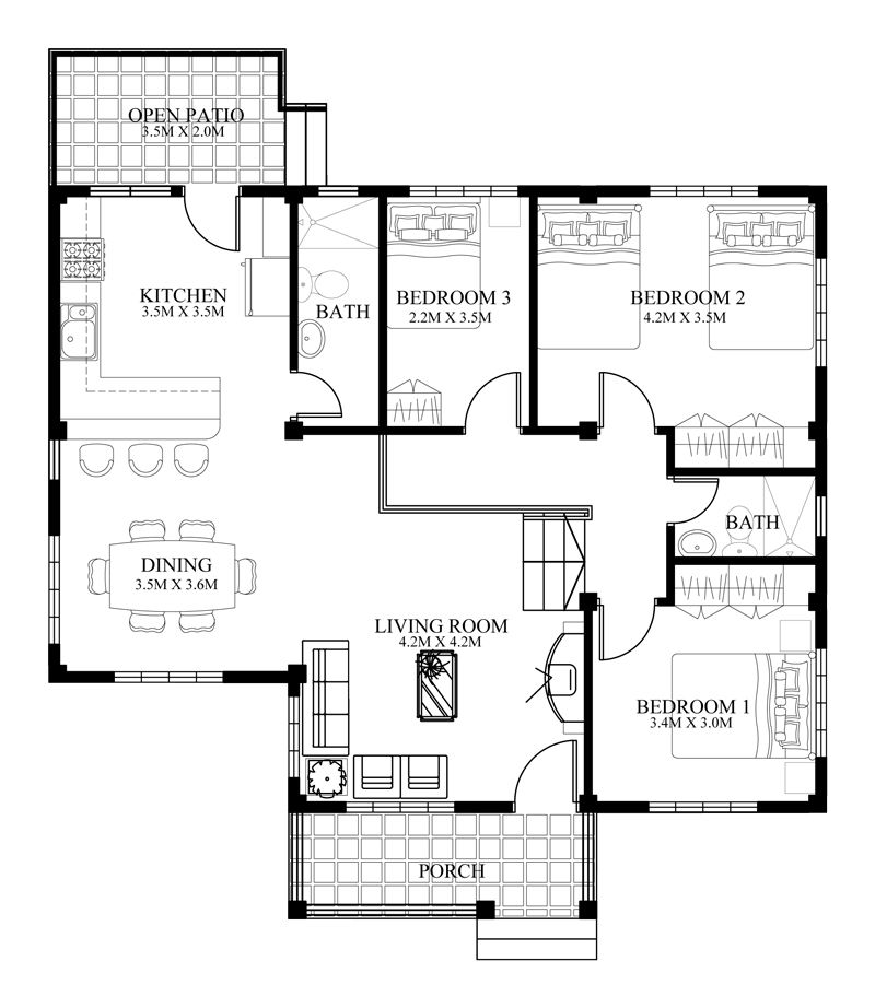 Floor Plans For Small Houses open floor plan blueprints floor plan 1576 large pictures Find This Pin And More On Small House Plans