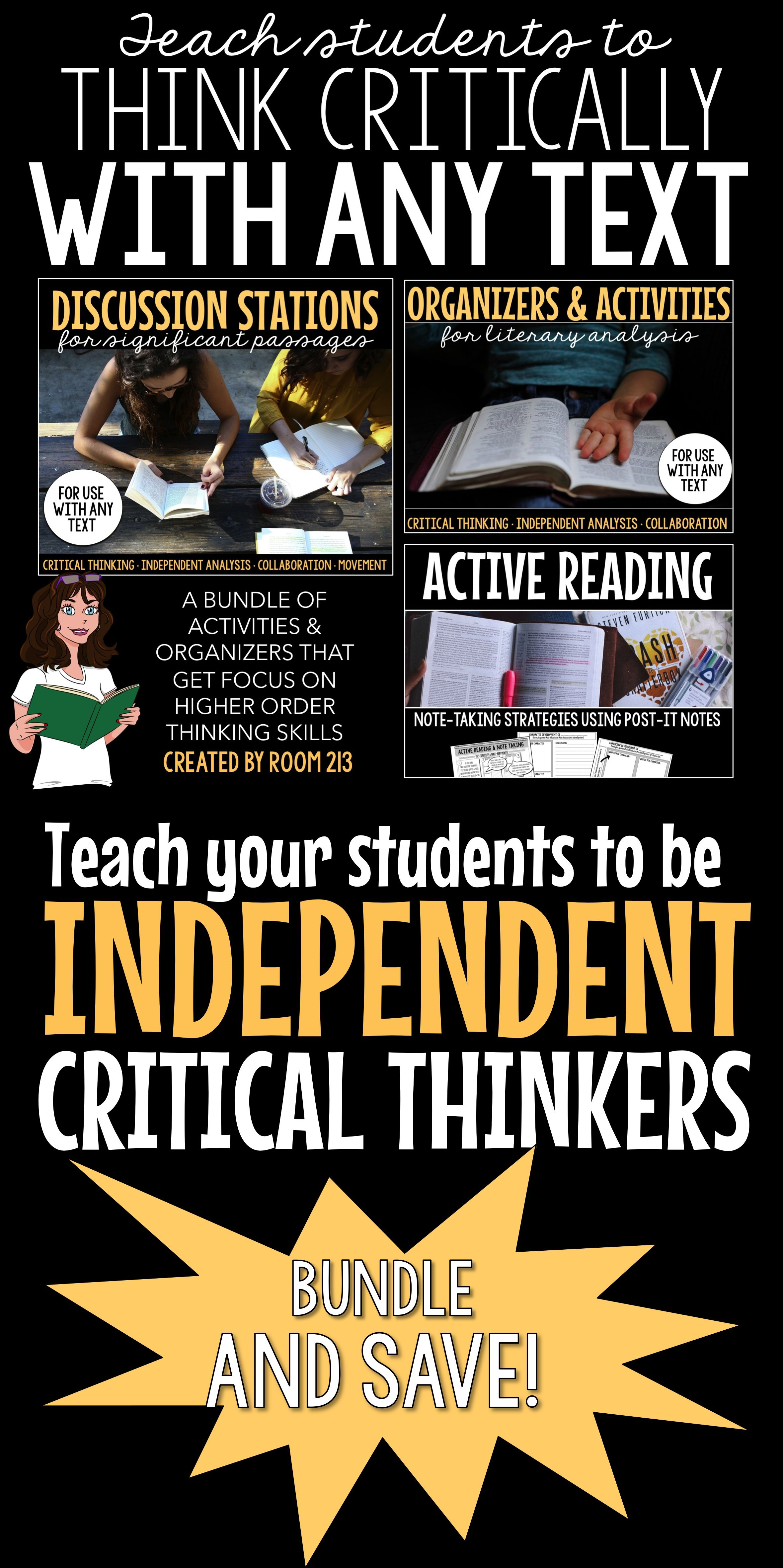 Critical Thinking Activities For Any Text Bundle