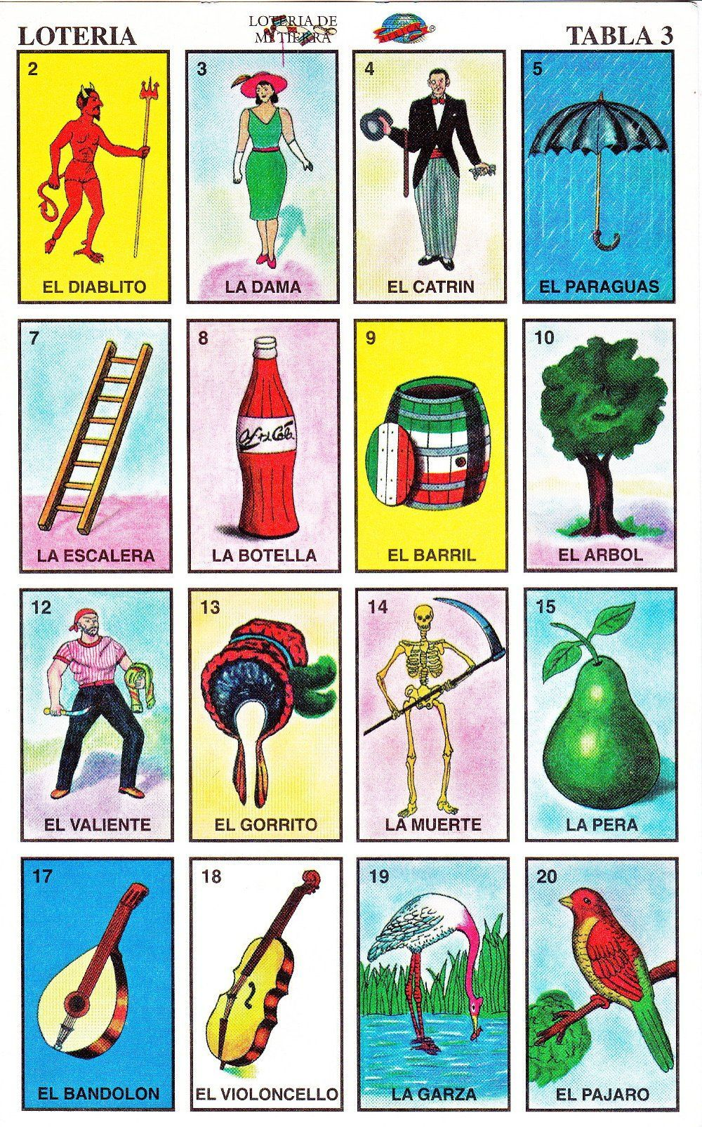 It is a picture of Unusual Printable Loteria Mexicana
