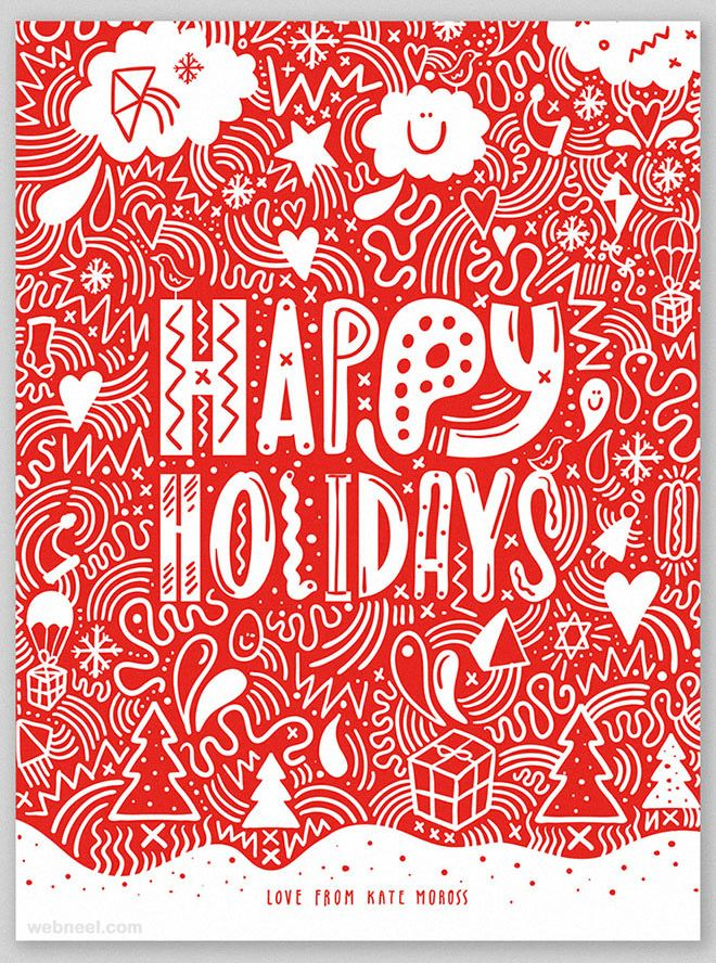 25 Beautiful Business Christmas Cards Designs for your inspiration ...