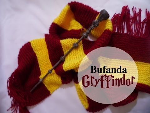 How to Knit a SCARF | Harry Potter Hogwarts Gryffindor - YouTube ...