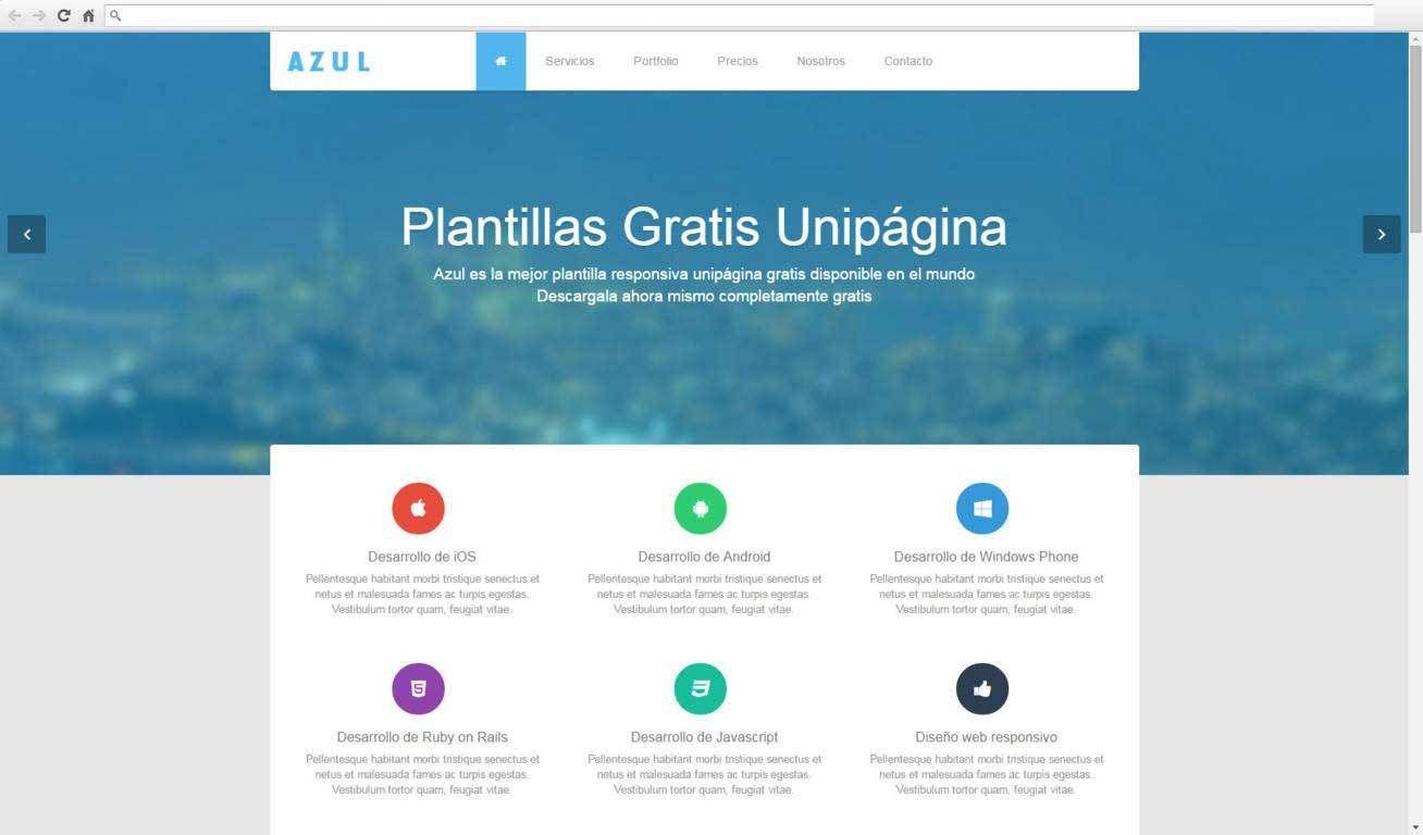 Azul Plantillas Web Gratis Dise O Web Dise O De P Ginas Web  ~ Webs De Decoraciã³n De Interiores