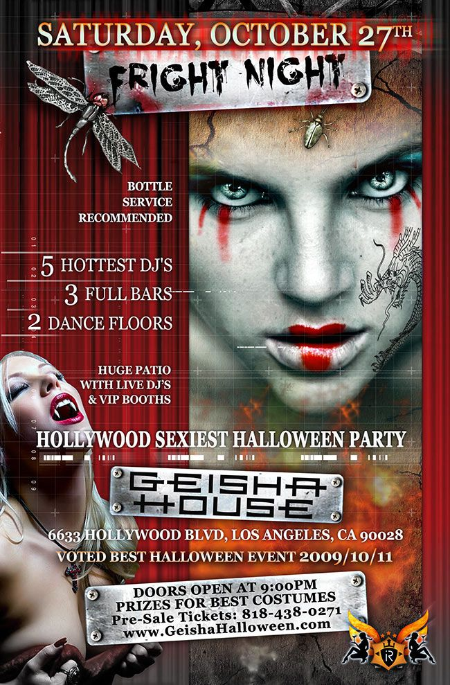 Halloween Flyer Poster For A Nightclub Event With Images