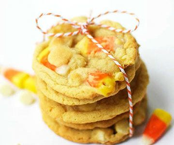 White Chocolate Candy Corn Cookies - Cupcake Diaries