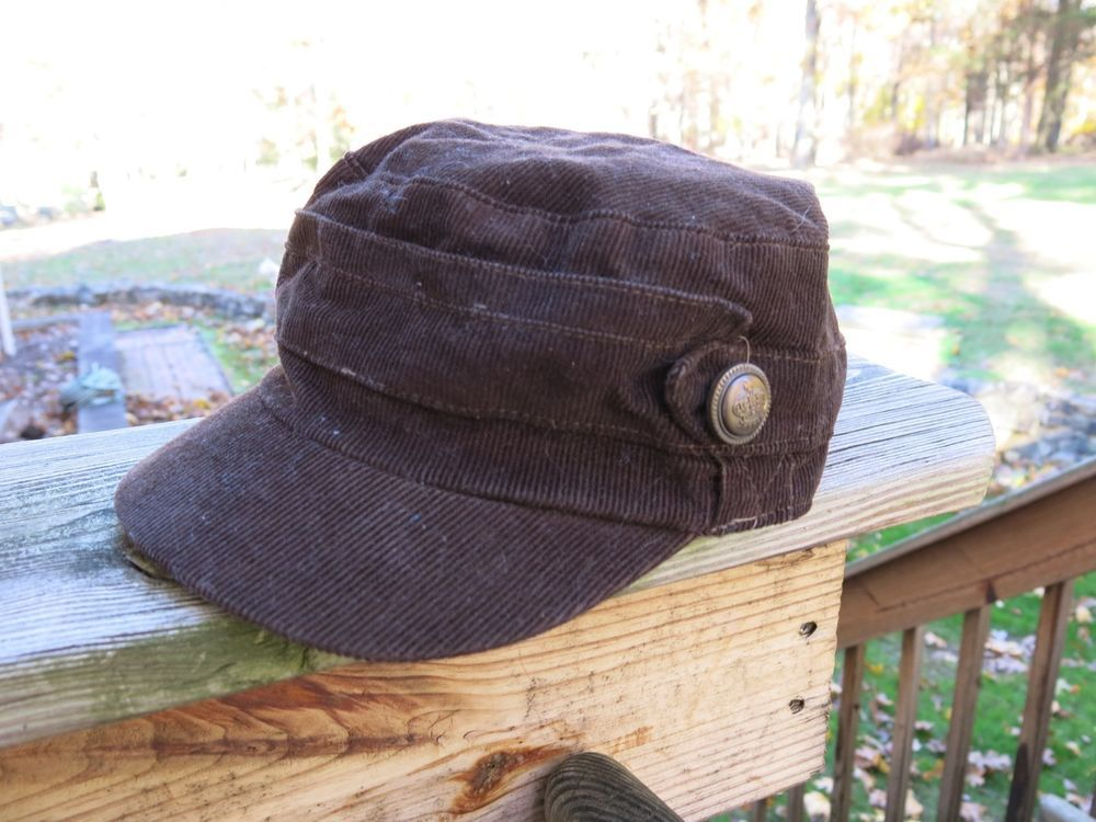 Brown corduroy patrol cap field cap Castro-style hat 57cm (Small)  fashion 2de6d46bd99